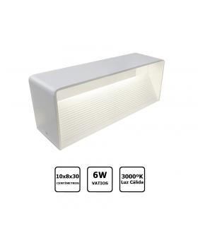 Aplique LED 6W horizontal luz cálida