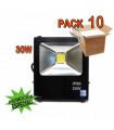 Pack 10 Focos Led 30W Luz 6500K