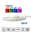 Tira LED UGR Colores 36W 220V 15mm 180 leds /metro
