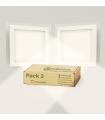 Pack X2 Downlight LED 12W Cristal Cuadrado Blanco Empotrable