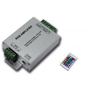 Amplificador 12V RGB con Mando 144W